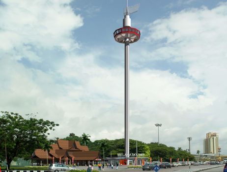 Melaka tower Bungkusit delivery parcel food launch